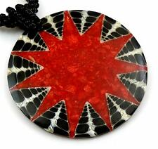ELEGANT RED CORAL CONE SHELL BEADS necklace ; DA029