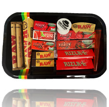 Bulk Buy Gift Rolling Tray Set - Flavoured Rolling Papers, Tips, RAW Smoking UK