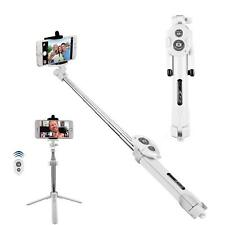 White Bluetooth Extendable Selfie Stick Monopod Tripod For iPhone XR XS XS Max X