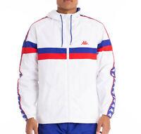 New Mens White KAPPA Bellagio Authentic 222 Banda Jacket ~ RRP: £80.00