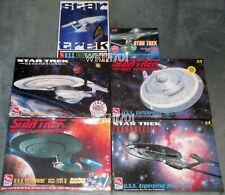 USS ENTERPRISE NCC-1701 TOS, Refit, B, C, D, E Lot 6 Model Kits MISB Star Trek