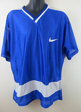 Mens Nike Mesh Shirt Top Soccer Jersey Blue Retro Football 90s Camisa Trikot XL