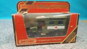 MATCHBOX MODELS OF YESTERYEAR Y-25 1910 RENAULT AMBULANCE 1:40 SCALE CAR