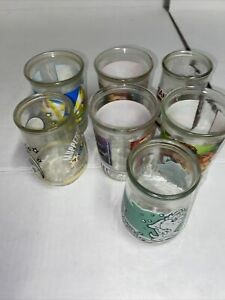 Lot of 7   Vintage Welch's Glass Jelly Jars