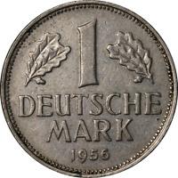 Germany 1956 G 1 Mark KM #110 XF