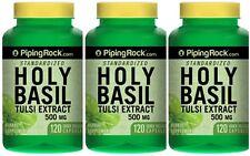 3 BOTTLES HOLY BASIL EXTRACT STRESS BLOOD GLUCOSE 500mg 360 CAPSULES