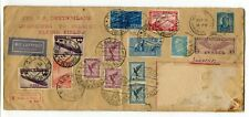 USA / Germany / Italy / Russia 1932 Extraordinary Airmail Cover w/ Zeppelin # 2