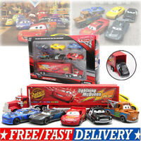 7X Car 2 Lightning McQueen Racer Auto Mack Truck Kinder Spielzeug Kids Toy NEU