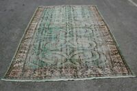 Anatolian Bohemian Style Area Rug Turkish Vintage Handwoven Wool Carpet 6x10 ft