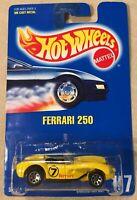 Hot Wheels Ferrari 250 #117 1991 Yellow Ferrari Unopened
