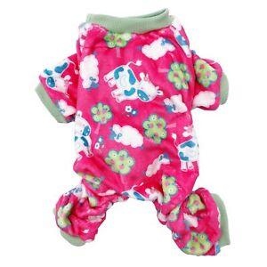 Dog Pajamas Soft Warm FLEECE Jumpsuit Cute Pet Clothes for Small and Medium Pet