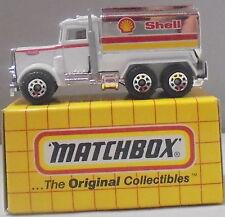 MJ7 Matchbox - MB56 Peterbilt Tanker - White & Chrome - Shell