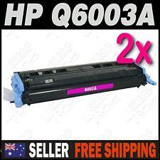 2x Magenta Toner for HP Q6003A Colour Laserjet 1600 2600 2600n CM1015 CM1017