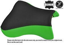 DESIGN 2 BLACK L GREEN VINYL CUSTOM FITS KAWASAKI ZX9R 98-02 FRONT SEAT COVER