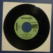 "7"" - PROMO - SAXON - RAGE TO HELLBACK AGAIN - DOUBLE DEALER - EX"