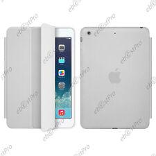Housse Etui SmartCover PU Cuir Coque Transparent Arrière Blanc Apple iPad Mini