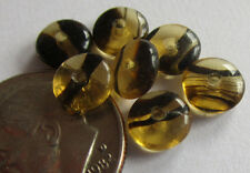 150 Czech Glass 6mm Tiger Stripe Gold & Brown Rondelle Spacer Beads HUGE STRAND