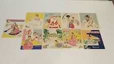 9 Korean War Christmas Cards Korea 1950's Unused
