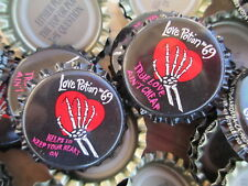 100 Uncrimped Love Potion 69 soda bottle cap-crowns. Soda/Beer Category