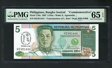 Philippines 5 Piso 18-10-1987 P176a Uncirculated Grade 65