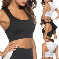 Hooded Crop Top Casual Sleeveless Solid Tank Top Women Fitness Sport Yoga Tops