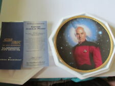 Star Trek The Next Generation Captain Picard Hamilton Collector's Plate