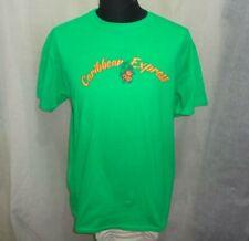 Lot of Gildan UltraCotton Unisex Caribbean Express Staff Green T-Shirts Sz L-M-S
