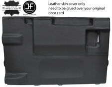Nero Stitch PORTELLONE PORTA CARD LTHR Copertura Per Land Rover Defender 90 03-17 3DR