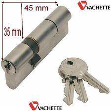 VACHETTE,Cylindre Sécurité,Sureté, 80 mm ,3 Clés,,35-45 mm,Canon,Barillet,Verrou