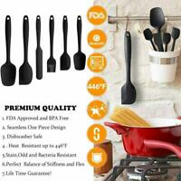 Silicone Cooking Kitchen Utensils Set Non-Stick Spatula Cookware Baking Tool 6pc
