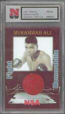 Muhammad Ali Boxer Ring Fight Game Used Red Glove Swatch Patch 1/1 Coa Authentic