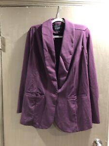 eloquii 18 purple suit jacket blazer