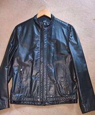 Hugo Boss 'Couble' leather jacket medium Italian cow nappa
