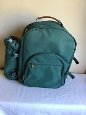 Picnic At Ascot Original Picnic Backpack For 2 Green Wine Insulated