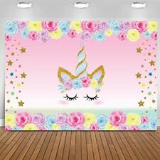 Fondo telon de unicornio para cumpleaños infantiles decoracion party kids backdr