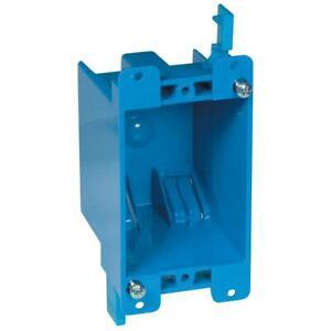Carlon PVC Single Gang Wall Box for Old Work. 14 Cubic Inch. Non Metallic.
