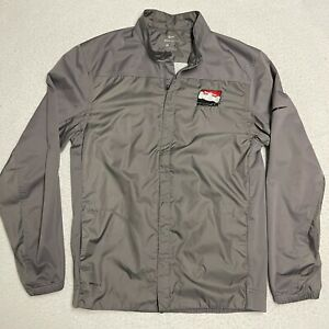Indy Car Nike Shield Full Zip Size Small Gray High Neck Jacket Long Sleeve