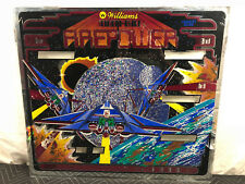 Williams Firepower Pinball Machine Game Backglass