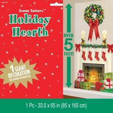 Christmas Holiday Hearth/Fireplace Giant Scene Setter Decoration