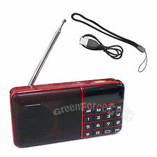 Portable Mini LCD Digital Micro TF Card Mp3 Music Speaker FM Radio Player Red