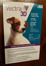 VECTRA 3D DOGS 2.5-20 LBS FLEA TICK MOSQUITO PREVENTION USA 6 DOSES + 2 EXTRA