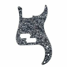 NEW Musiclily P Bass pickguard for Precision Bass Guitar 4Ply Pearl Black