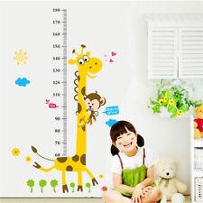 Kids Height Measure Growth Chart Giraffe Wall Stickers Room Living Room Decor