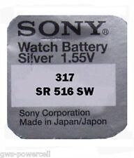 3 x Sony Uhrenbatterie 317 SR516SW 1,55V V 317 SR62 Knopfzelle SR516
