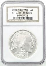 2001 P&D Buffalo MS69 & PF69 Ultra Cameo NGC Set