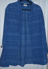 Mens Old Navy XXL Long Sleeve Shirt Front flap button pockets Blue Indian Print