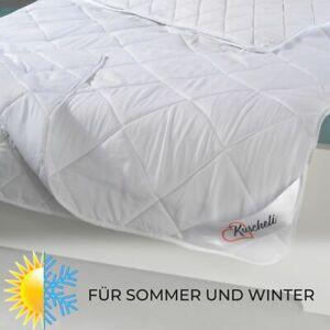 4-Jahreszeiten Bettdecke 135x200 Ganzjahres-Steppbett-Set mit Druckknöpfen Decke