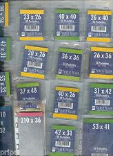 1 Blister 10 Pochettes fond noir double soudure 95x150