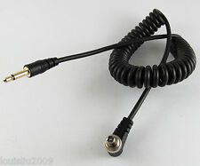 5pcs 1Ft 30CM Gold 3.5mm Male Plug to Male Flash PC Sync Cord Retractable Cable