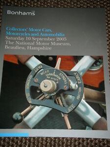 BONHAMS AUCTION CATALOGUE BEAULIEU 2005 LOTUS ELAN S3 SE  JAGUAR XK120 E TYPE